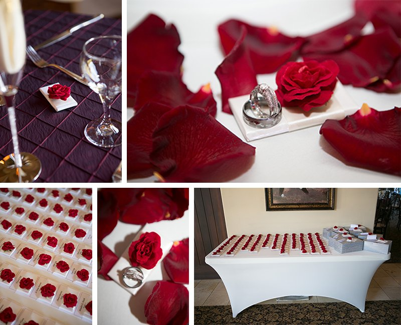 Temecula Winery Wedding Rose Favors