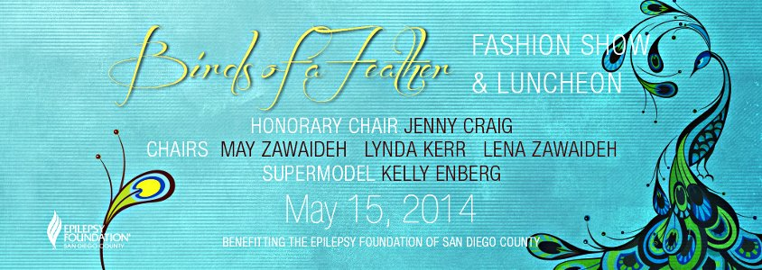 Feather Fashion Show and Luncheon sponsored by the Epilepsy Foundation