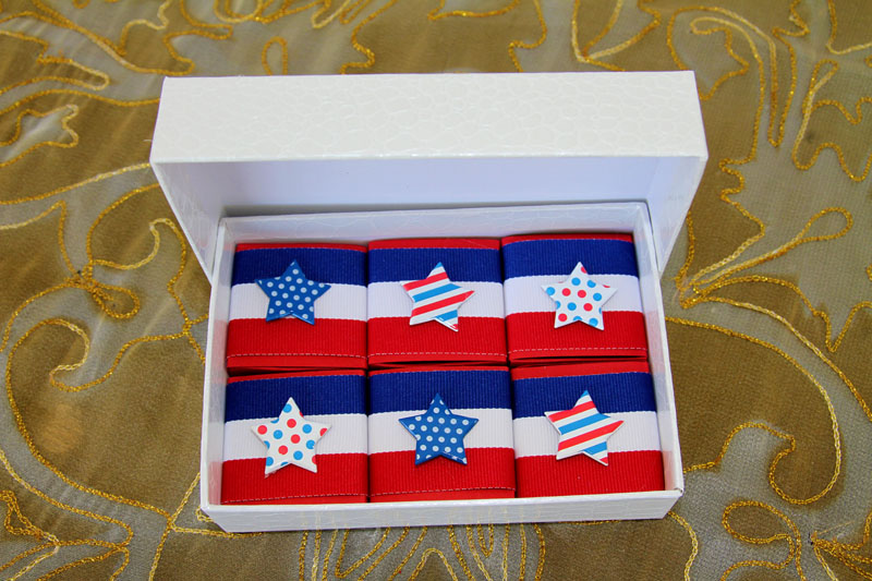 4th of July Chocolate Favors from Sobelle Favors