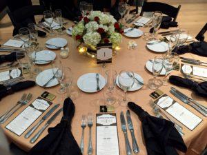 Black and Gold make for a beautiful tablescape.