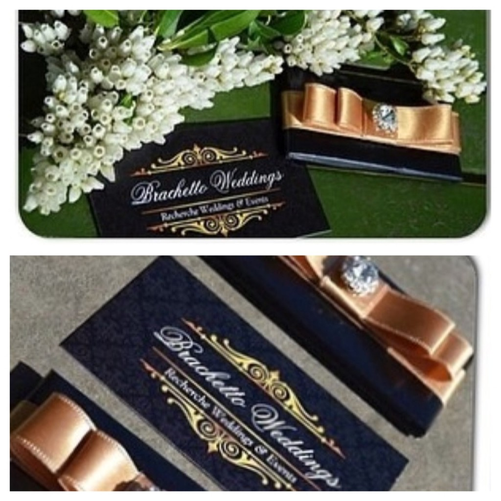 The SoBelle Favor Custom Designed to Match Wedding's Business Cards